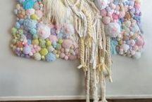 fabric art / needlework, textil, inspiration