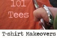 DIY T-shirt Makeovers / Re-purpose, Recycle, UpCycle your Tshirts! Lots of DIY design ideas for making your T-shirts better!