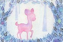 Animals, 森林裡的小動物 / by Crystal's Illustration
