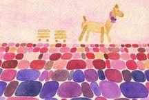 My Artworks, 水彩色鉛筆在唱歌 / 聽!是誰在森林裡唱歌?Do~Re~Mi~Fa~So~La~Si~不不不!我聽見的是,紅~橙~黃~綠~藍~靛~紫~原來這是一座水彩色鉛筆會唱歌的彩色森林!森林裡的小店鋪:http://bit.ly/15p52Y6 / by Crystal's Illustration