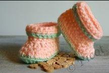 Buciki Opaski Szydełkowe Crochet Boots Headband / Wyroby szydełkowe dla dzieci