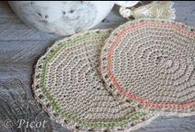 Podkładki Serwetki Szydełkowe Crochet Coasters