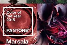 Marsala Pantone Colour 2015 / Pantones 2015 Colour of the year.   Weddings, Events, Fashion & Home Decor  / by The In Thing