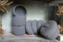 Pojemniki Szydełkowe Crochet Basket
