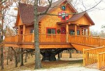 Treehouses / The Original Log Cabin Homes Treehouse project