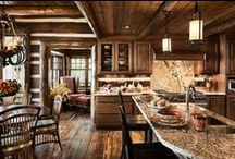 Kitchen and Bathroom Designs / Design Inspiration for our fans who are thinking of building a Log Home. www.logcabinhomes.com