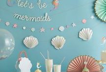 Mermaid Party / Girls, are you in for a mermaid party? On Partydeco.nl you can find al your party supplies to go back into the sea.