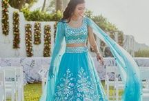 Engagement / Sangeet Lehengas / Collection of bright and colorful lehengas for sangeet!