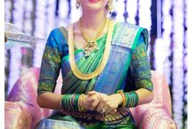 South Indian Brides- Kanjivaram Sarees / A collection of Kanjivaram, Pochampali, Selam Saris and other gorgeous South Indian accessories.