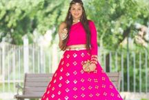 Light Lehengas / A Collection of Light Lehengas for bride, bridesmaids, sisters at Mehendi, Engagement and Sangeet.