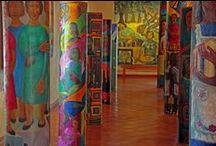 2014 IDEAS. (6th) Columns - El Dia de los Muertos / 6th Grade Project Column Murals