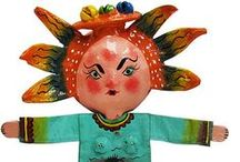 2014 IDEAS. (4th) Coconut Masks - El Dia de los Muertos / Project for 4th Grade