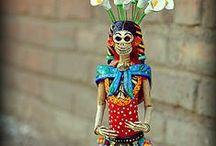 2014 IDEAS. (K) Catrinas - El Dia de los Muertos / Kindergarten Project