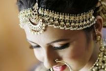 Maang Tikkas, Jhoomers and Matha Pattis / Indian Hair Jewelry - Maang tikka, Jhoomer and Matha patti
