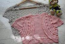 Crochet shrugs