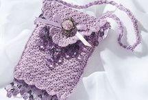 Crochet mini pouch