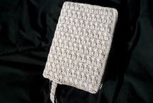 Crochet book covers and markers, etc.
