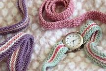 Crochet watch straps