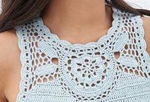 Crochet tops sleeveless