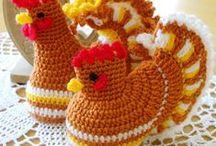 Crochet egg cozies