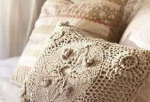 Crochet cushions, etc.