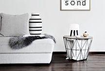 HOME / home, black, white, nordic