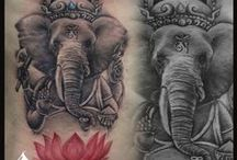 Lord Ganesha Tattoo / Lord Ganesha son of Lord Shiva is One of the Favorite choice among for Tattoo among people as he is one god who is worshiped the First in any of the Rituals according to Hindu mythology! Customizing Ganpati tattoos is Always Fun & Challenging job to do!  Hears some of our work! Hope u like it.. Share if u like :) Thanks for watching!!