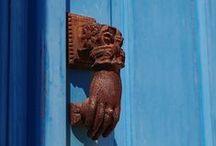 Inspiration from Doors & Colors / Old wooden doors in Greek Islands