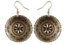 Copper Earrings / Hand made and screened copper earrings give you the style of the Turkish Bazaar.  Intricate design and vibrant colors make for a great eye-catching jewelry.  Comfortable lightweight and elegant style make these earring a great choice for everyday wear.