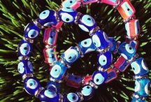 Elastic Evil Eye Bracelets / Evil Eye charms are said to offer protection against evil and negative energy. All of our elastic bracelets are imported from Turkey.