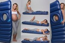 holo - the lilo with a hole / holo - the lilo with a hole is an inflatable airbed for pregnant women to lie on their tummies for relaxation, massage and sunbathing. Have a rest, tan your back, get your baby into position for birth, have a massage and relax at the end of yoga. For use on land and water. Go on, treat yourself!  www.holo-lilo.com Emma x