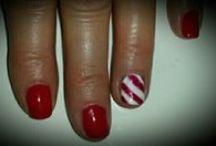 Urban Spa Nail Art / Photos of Jen's nail art on staff, clients and nail art wheels.