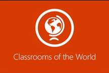Classrooms of the World / Gain exclusive access into the classrooms of countless countries and experience education through the eyes of students and educators from all across the world. #MSFTEDU