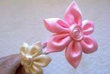 flores y rosas de papel y cintas / Tecnicas para realizacion
