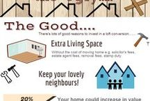 Loft Conversions Infographics / A board about loft conversions but shown in infographic form.