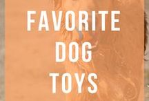Favorite Dog Toys / The best dog toys for heavy chewers, puppies, and for small and large breeds. Along with some DIY and handmade dog toys!