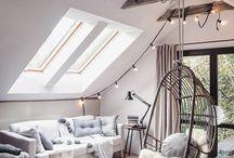 Wohnzimmer / Hier findet Ihr Ideen für Euer Wohnzimmer. Egal, ob DIY und Deko Ideen im Landhaus Stil, Skandinavisches wohnen oder Ähnliches. Ideen für Dachschrägen und Wandgestaltung. #wohnzimmer