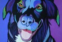 Art | Dogs, Dogs, Dogs / Wall art featuring man's best friend by Imagekind artists.