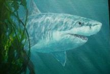 Art | Shark Fancy / Wall art featuring sharks by artists on Imagekind.