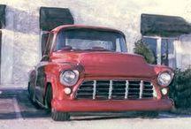 Art | Tough Trucks / Wall art featuring trucks by artists on Imagekind.