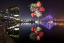 Art | Fantastic Fireworks / Wall art featuring fireworks displays by Imagekind artists.