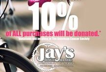 Jay's Breast Cancer Awareness Event / Jay's first breast cancer awareness event happening October 25th-26th, 2014! 10% of ALL purchases will be donated! Come by and support, all staff will be sporting pink shirts!