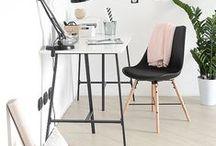room & workspace inspiration / Inspiration for your workspace, work desk, desk area, workplace, bureau, living room, organization, grid walls, etc.
