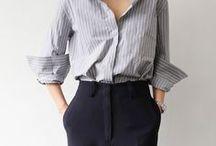 button up / fashion trend button up, blouses, stripes, boyfriend look, etc.