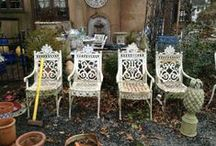 Vintage out door decor  / Vintage and antique furniture, planters, and more