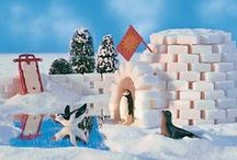 Téli ötletek / Hó, hóember, jég, pingvin - odabent a meleg szobában! Készíts saját hógömböt, iglut, pingvint, hóembert ezerféle technikával!