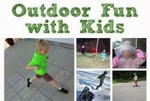 ~Outdoor FUN with the kids~ / All the best simple and FUN ways to get involved with your kids in the great outdoors, where all the best fun is had! / by Gail Carroll at My Cubby