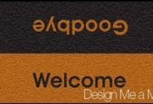 Personlised Door Mats / Personalised door mats. High quality floor mats, fully washable and designed to last.