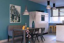 3d interieur visuals  / 3d visualisatie - impressie van interieur architectuurpresentatie architectuur visual interieur design