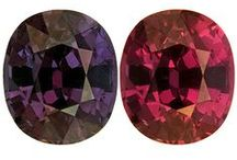 Varieties of Garnet / The garnet mineral family includes varieties of nearly every color. Most people are unaware of the range of hues. Garnets come in pretty much every color.